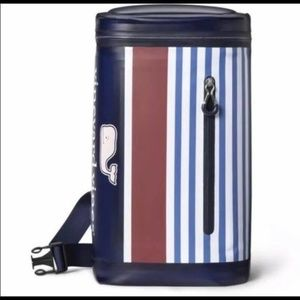 Vineyard Vines Pink Whale Striped 10 Can Cooler